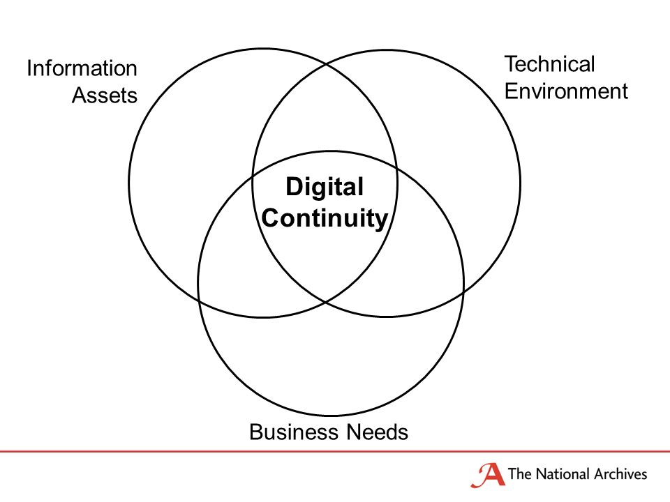Information Assets Technical Environment Business Needs Digital Continuity