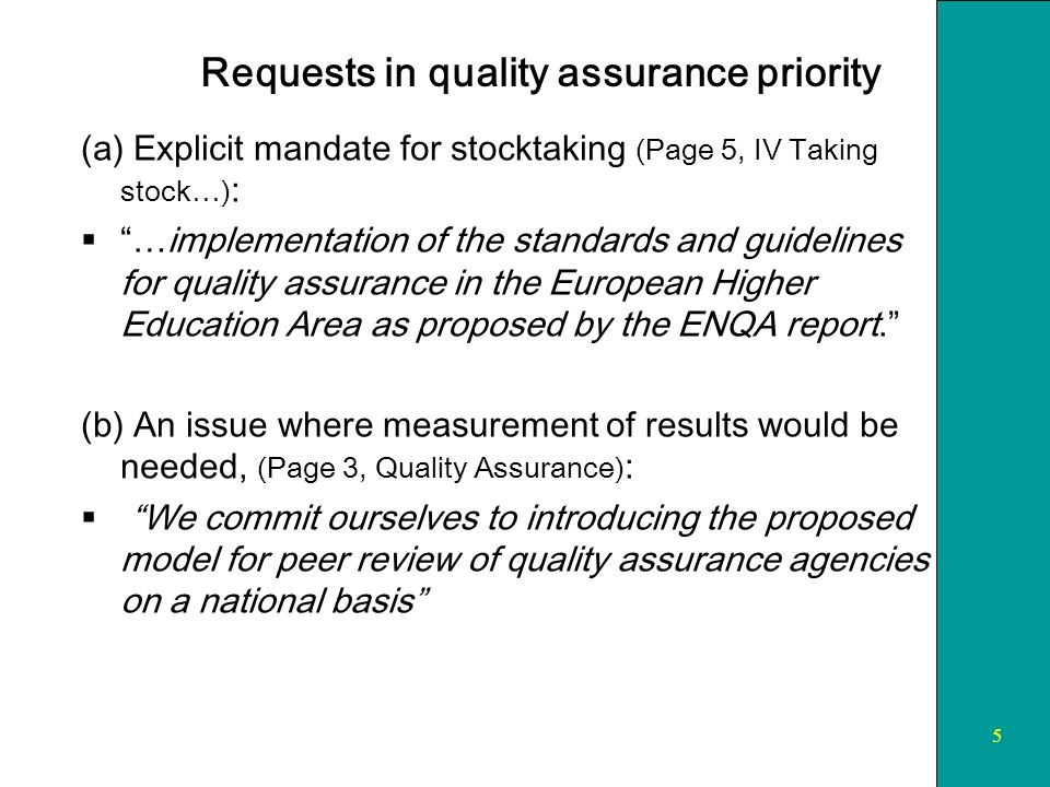 6 Recognition General mandate: We expect stocktaking … to continue in the fields of … recognition of degrees and study periods.