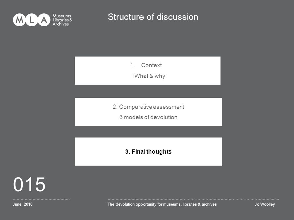 Structure of discussion 015 2.