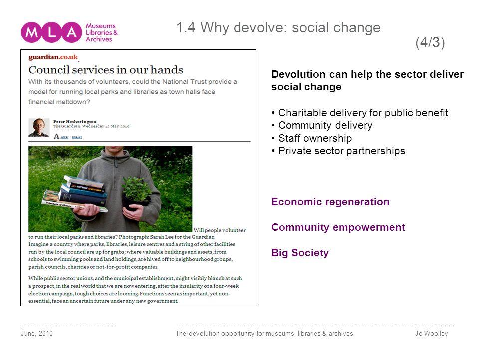 1.4 Why devolve: social change (4/3) …………………………………….