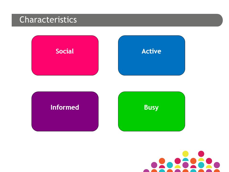 Social Informed Active Busy Characteristics