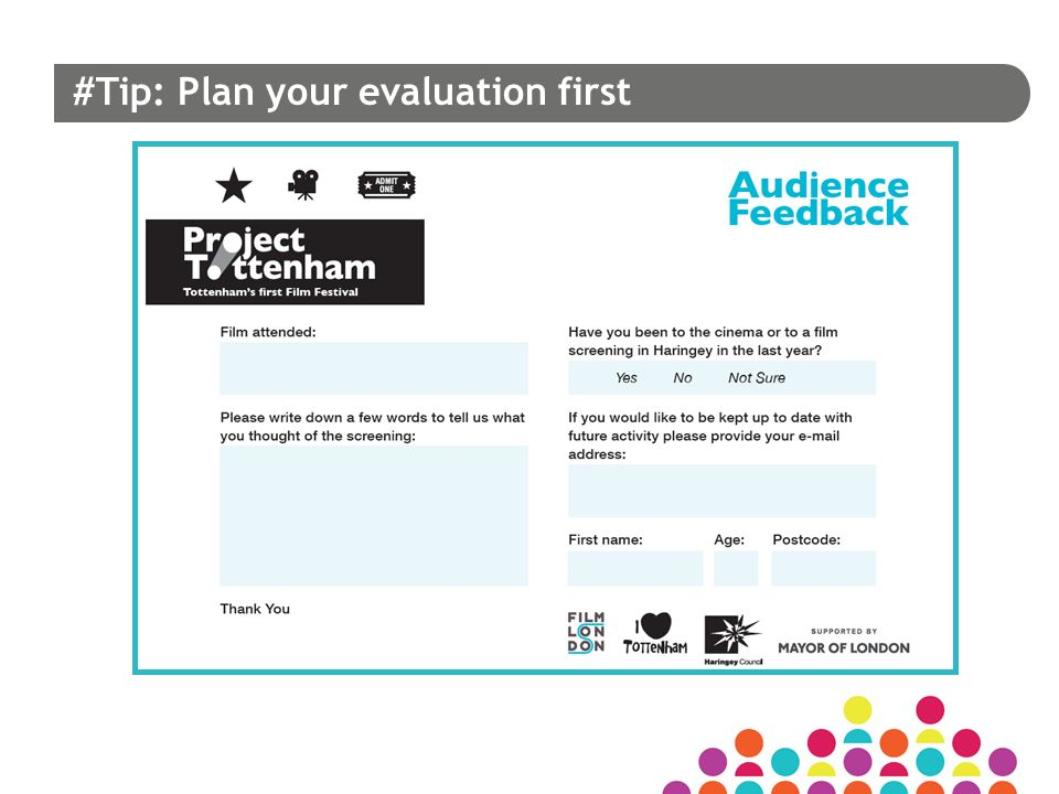 #Tip: Plan your evaluation first