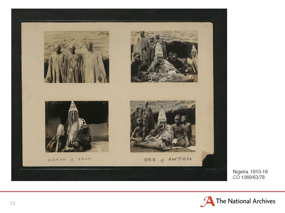 13 Nigeria, 1910-19 CO 1069/63/78