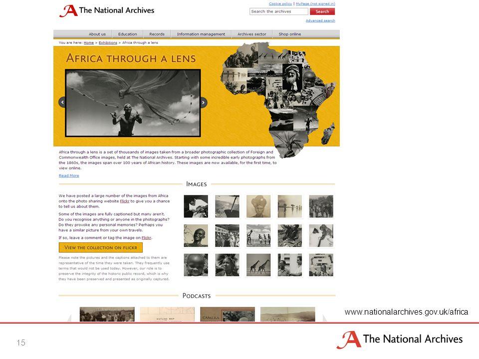 15 www.nationalarchives.gov.uk/africa