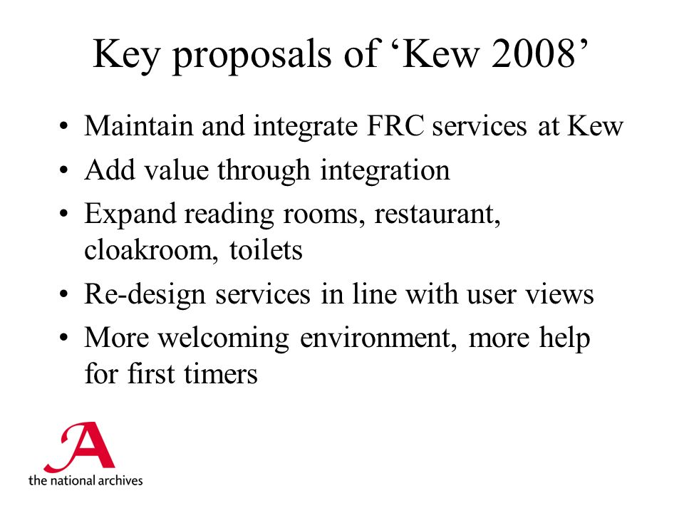 Key issues raised by readers Location – and parking Is there enough space at Kew.