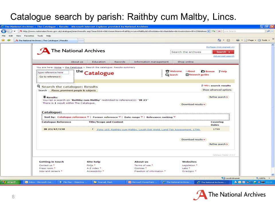 Parish Quota and Assessment for Raithby cum Maltby, Lincs. IR 23/47 f.165 9