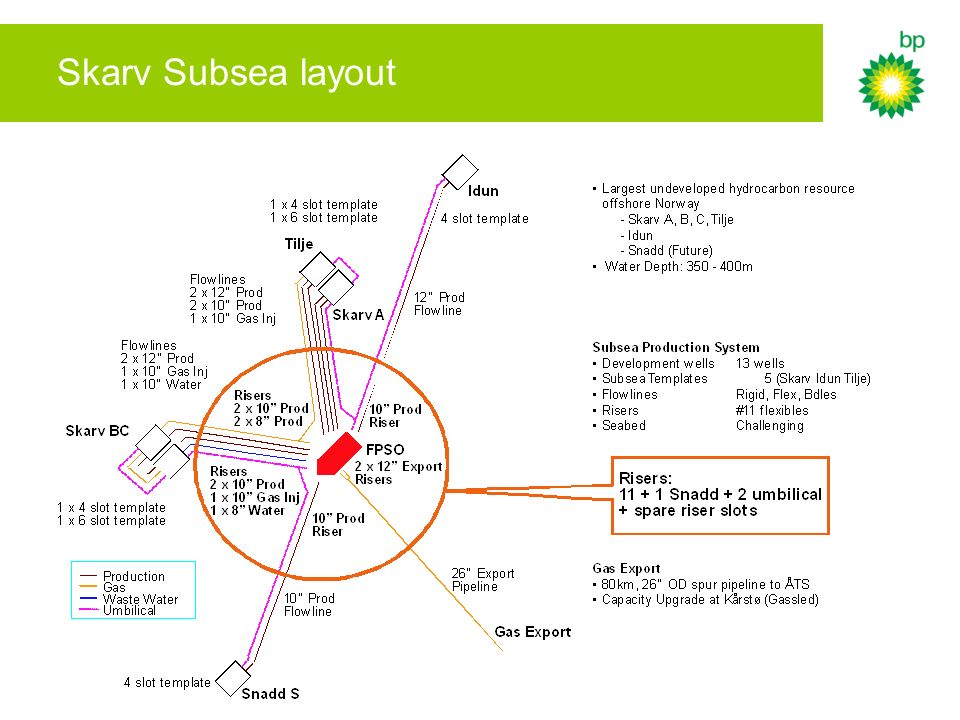 Skarv Subsea layout