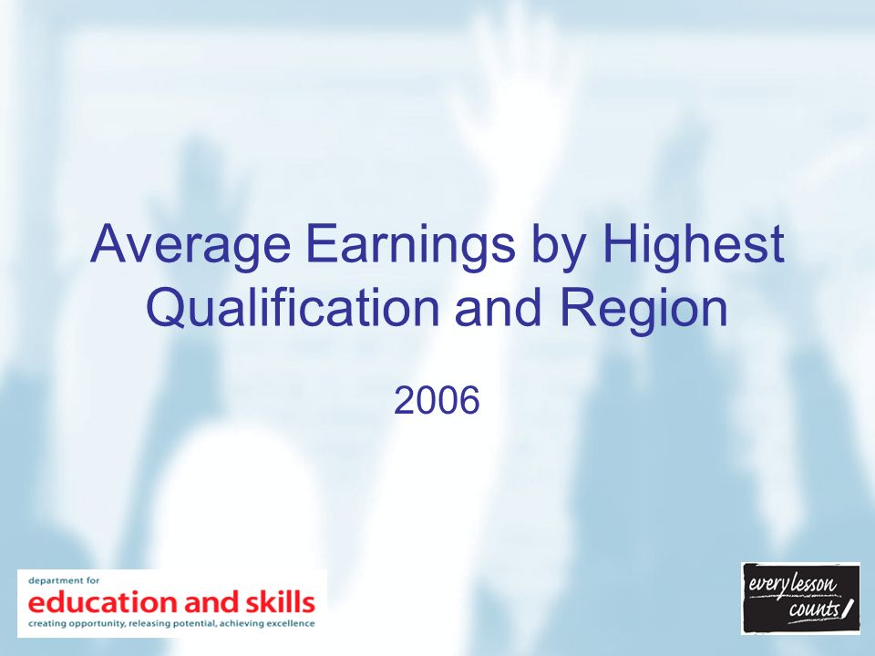 Average Earnings in England and North West Region by Highest Qualification