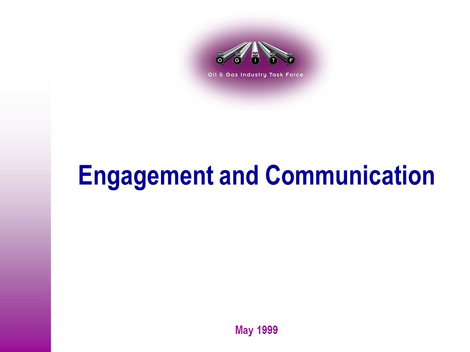 May 1999 Engagement and Communication