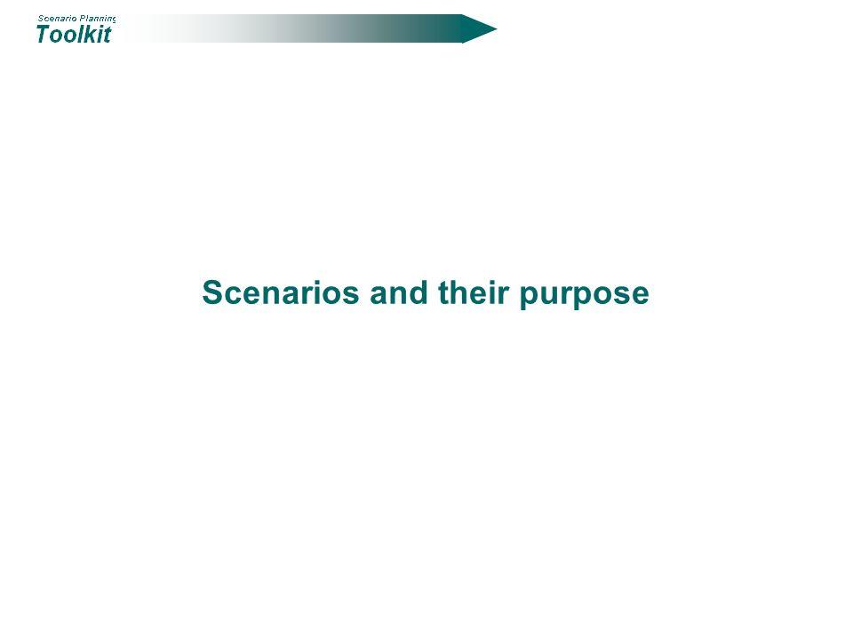 Scenarios and their purpose