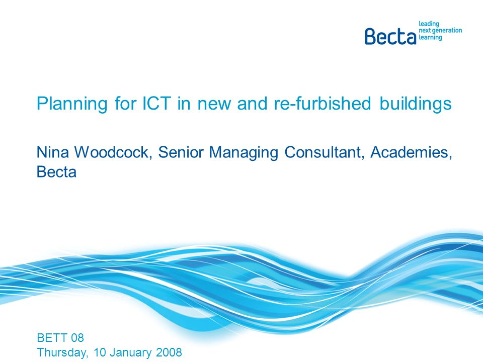 Bectas vision A world where technology and innovation enable learners to achieve their potential.