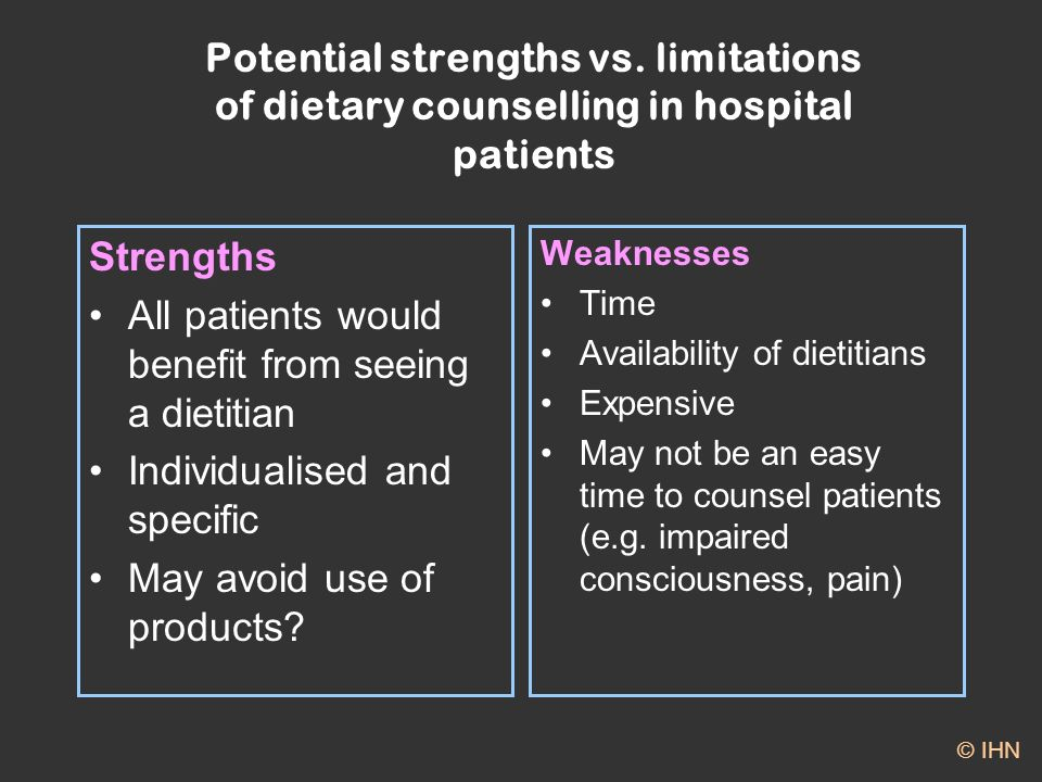 Potential strengths vs.