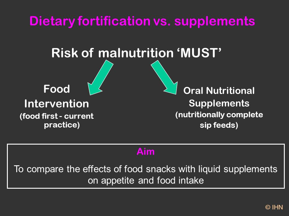 Dietary fortification vs.