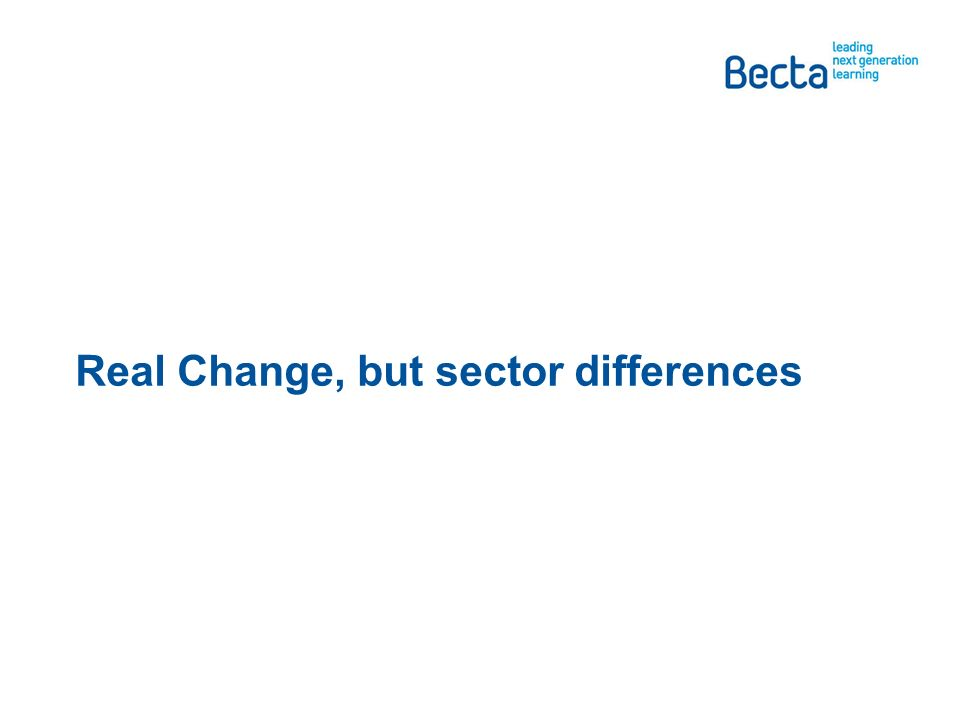 Real Change, but sector differences