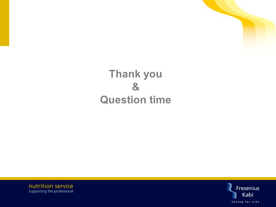 Thank you & Question time