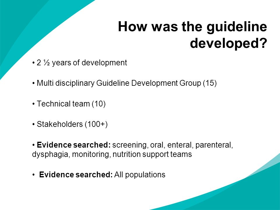 How was the guideline developed.