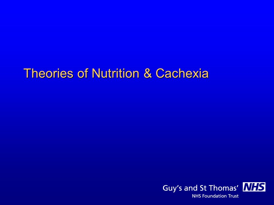 Cancer Cachexia - What it is not.