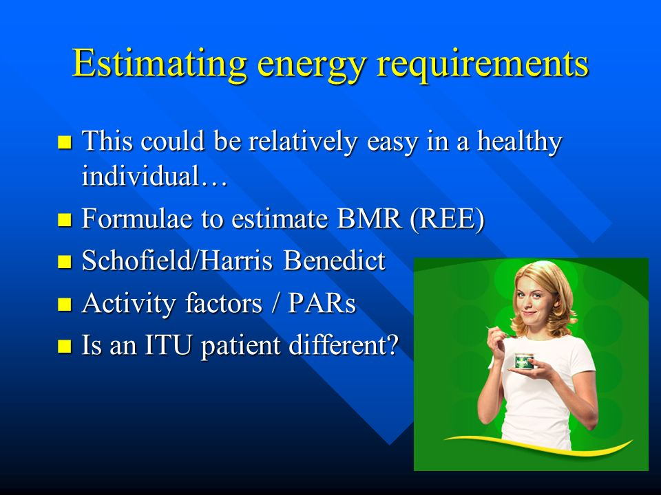 Is it Possible and Necessary to Estimate Energy Requirements in the Critically Ill.