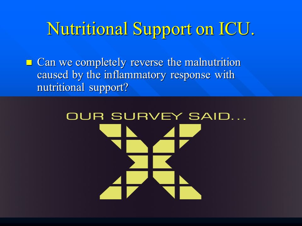 Nutritional Support on ICU.