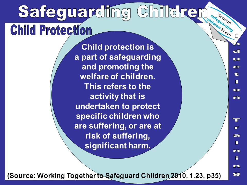 Child protection is a part of safeguarding and promoting the welfare of children. This refers to the activity that is undertaken to protect specific c