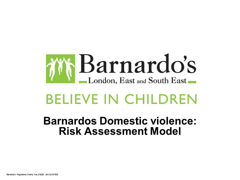 Barnardos Registered Charity Nos 216250 and SC037605 Barnardos Domestic violence: Risk Assessment Model