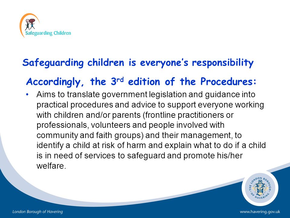 Responsibility for the Plan All professionals working with the family have a responsibility to bring concerns to the attention of the social worker