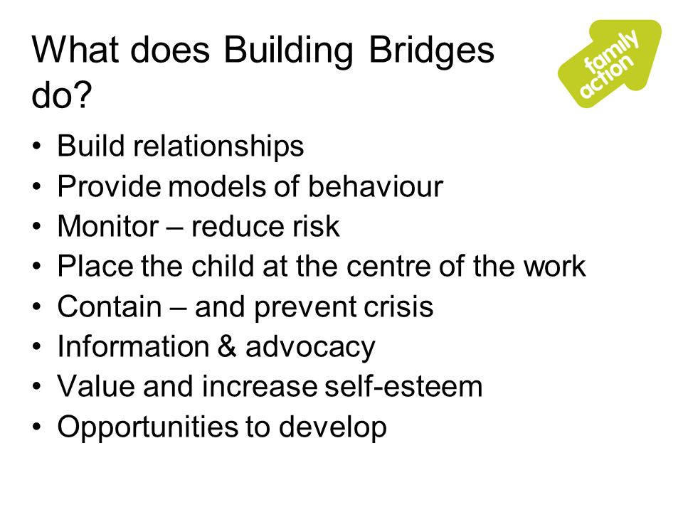 What does Building Bridges do.