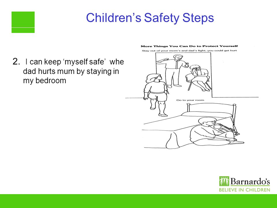 Childrens Safety Steps 2. I can keep myself safe when dad hurts mum by staying in my bedroom