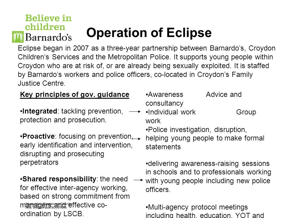 Operation of Eclipse Key principles of gov.