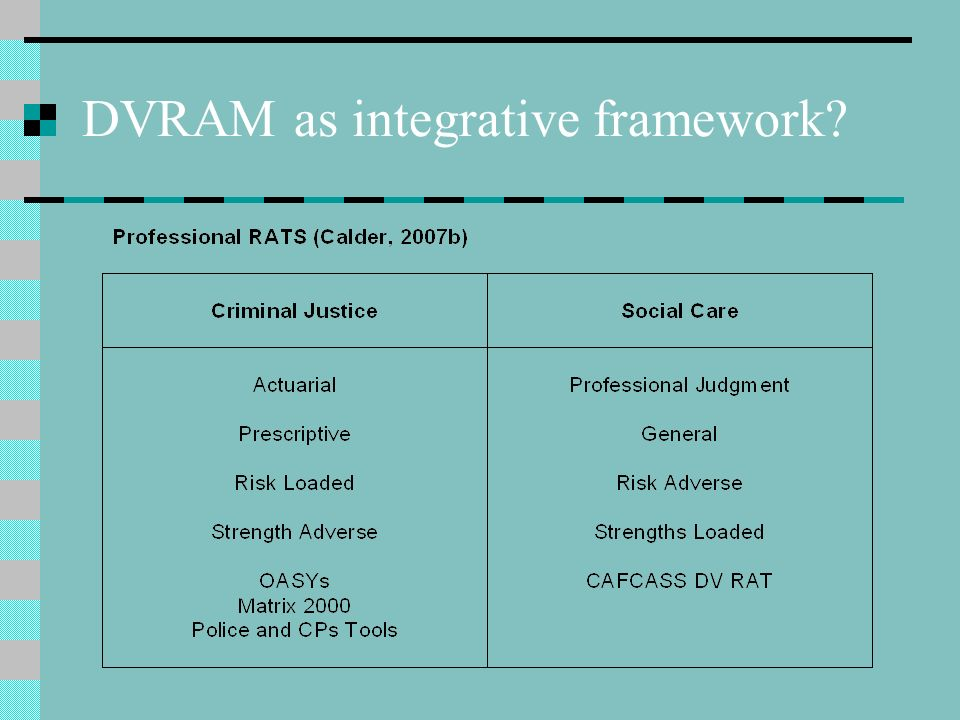 DVRAM as integrative framework?