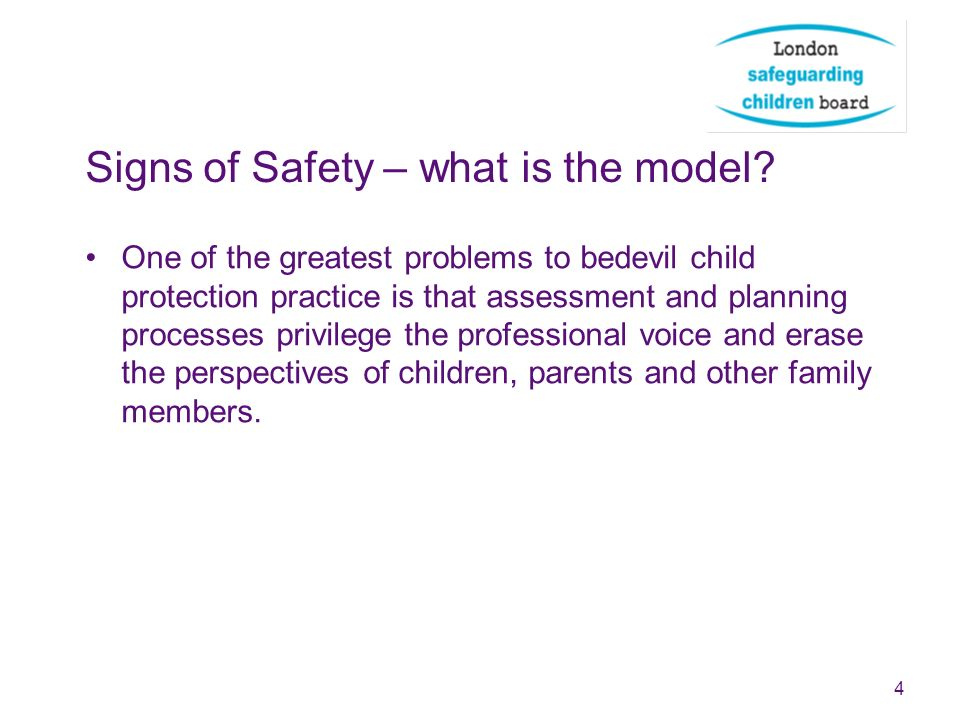 Signs of safety – what is the model.