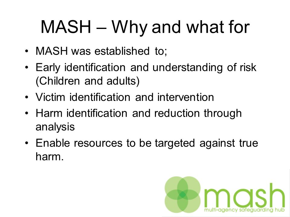 What MASH does in Devon Manages Police Child Concern referrals Contact and referrals to Early Years and Families Liaison with Early Response Service to meet Childrens Social Care needs that do not require a social care assessment at level 3.