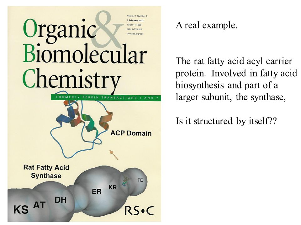 A real example. The rat fatty acid acyl carrier protein.