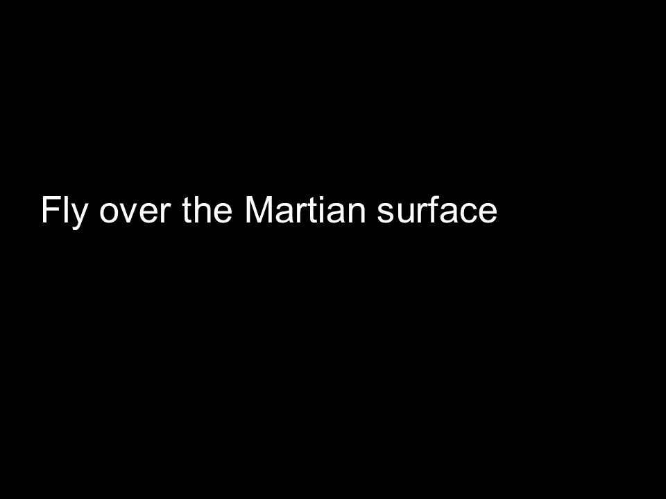 Fly over the Martian surface