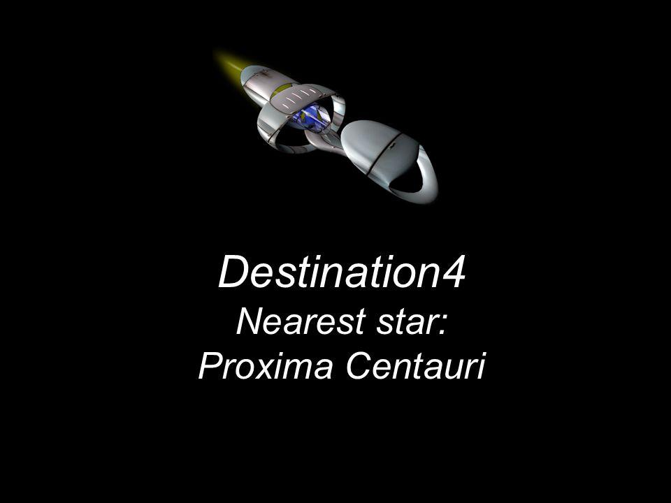 Destination4 Nearest star: Proxima Centauri
