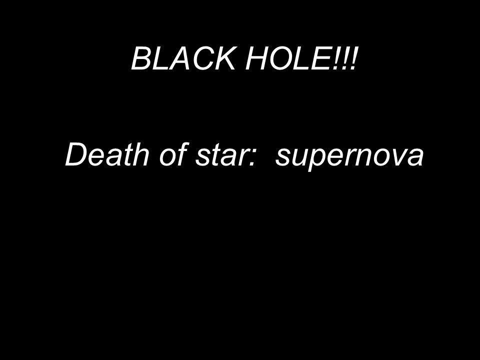 BLACK HOLE!!! Death of star: supernova