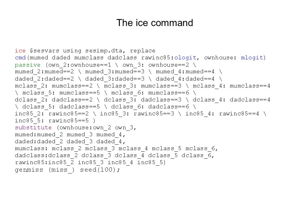 The ice command