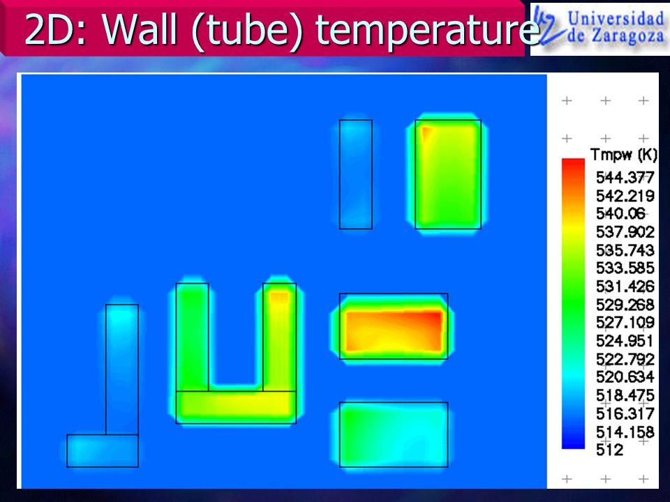2D: Wall (tube) temperature