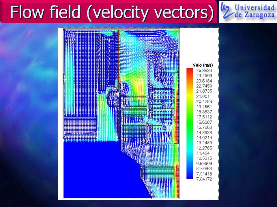 Flow field (velocity vectors)