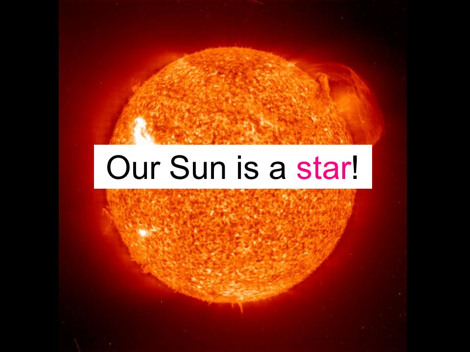 Our Sun is a star!