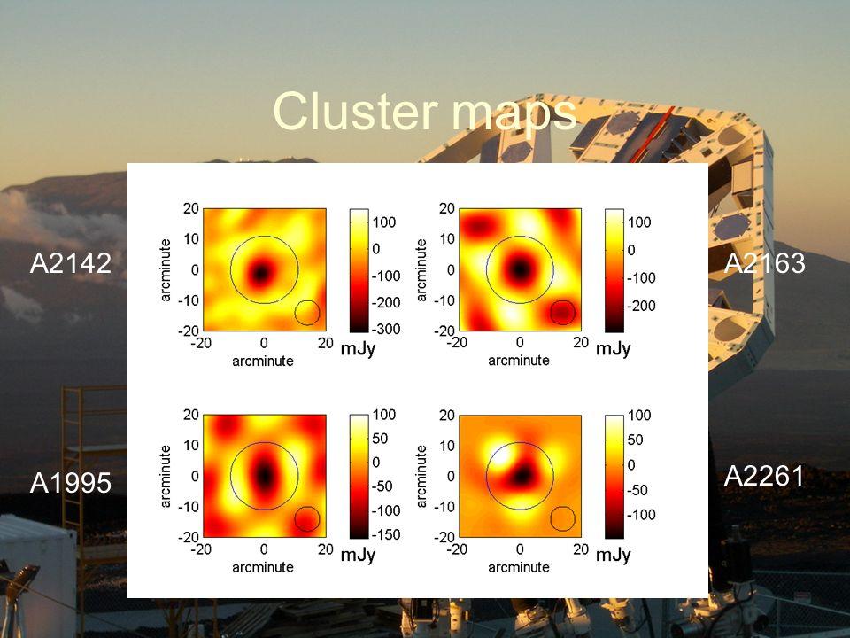 Cluster maps A2142A2163 A1995 A2261