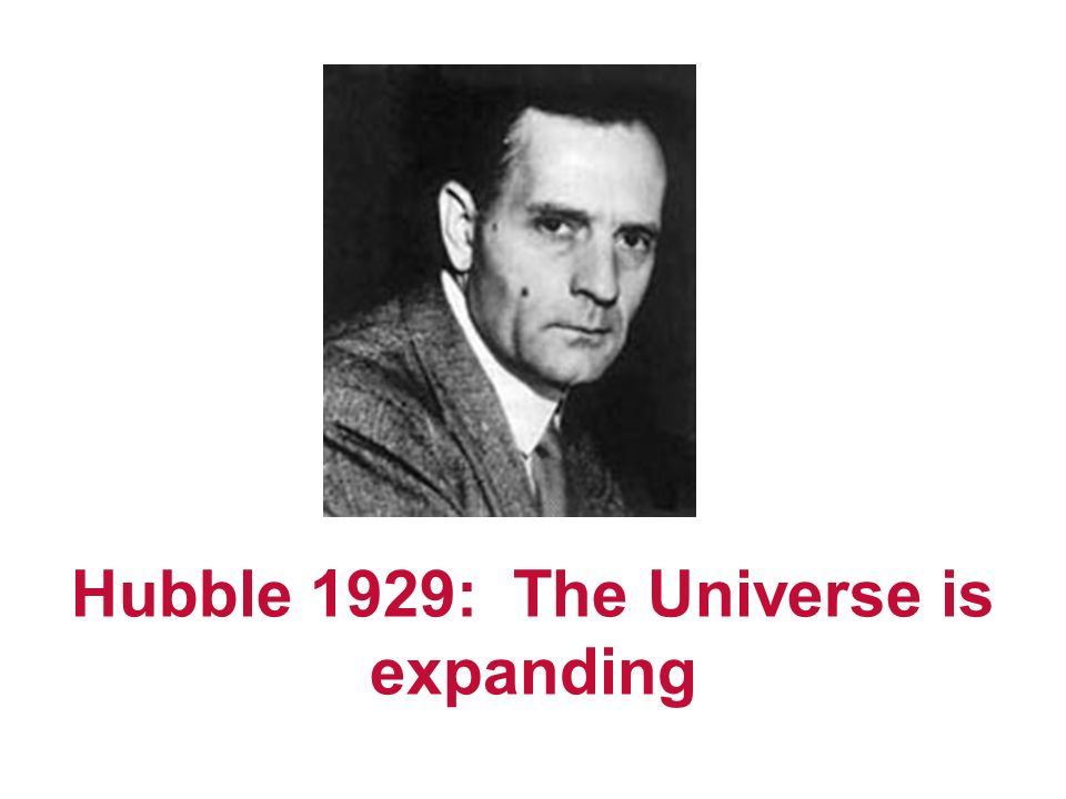 Hubble 1929: The Universe is expanding