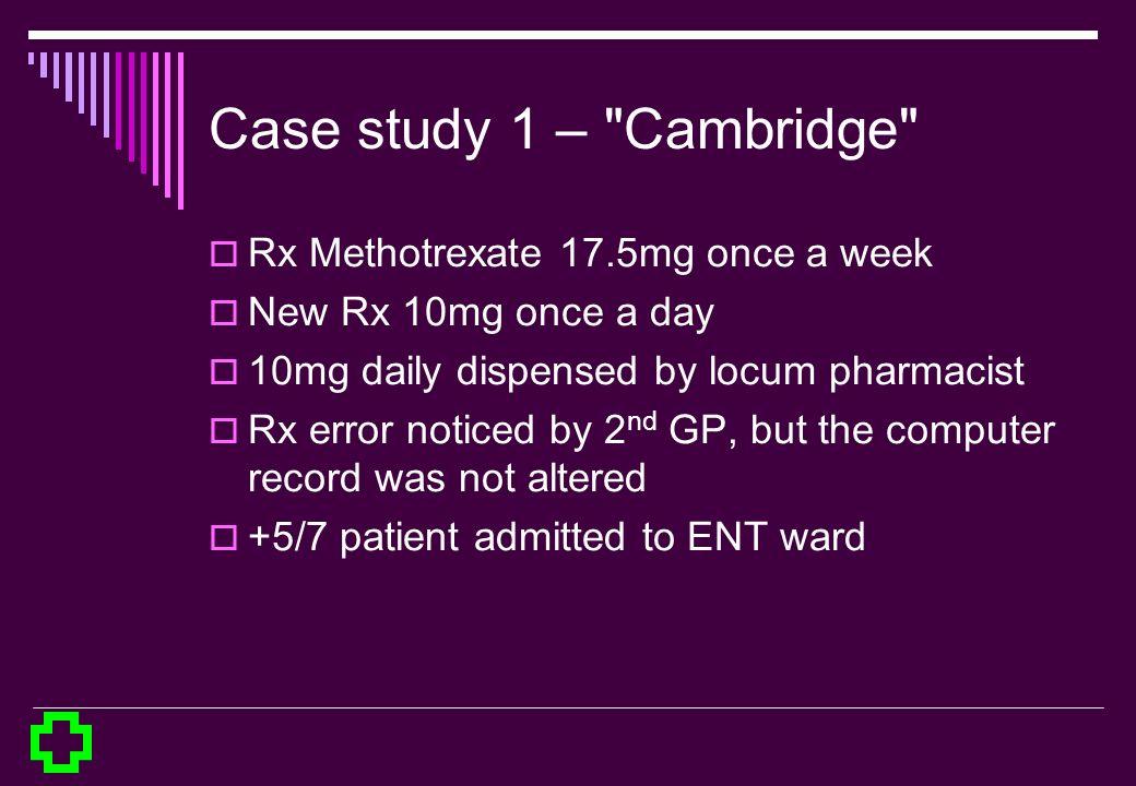 Case study 1 –