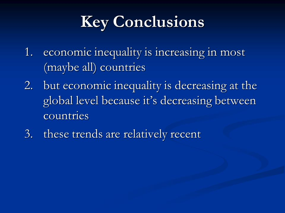 Global Inequality: Are the rich getting richer and the poor getting poorer.
