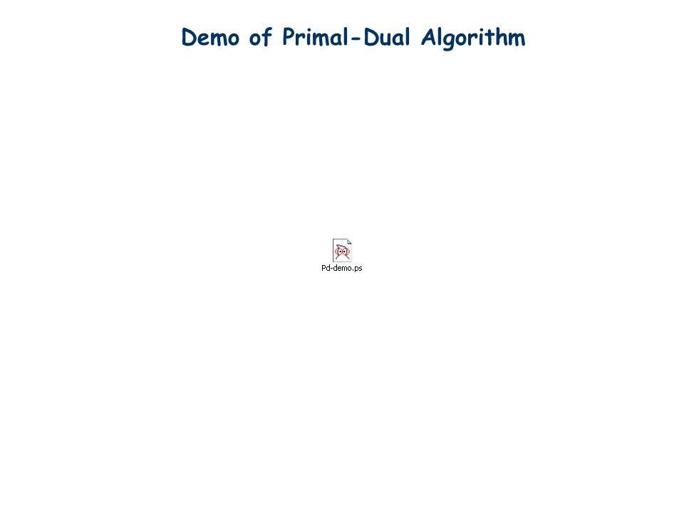 Demo of Primal-Dual Algorithm