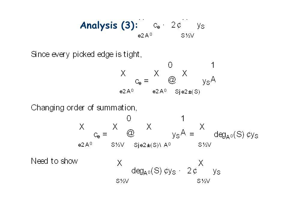 Analysis (3):