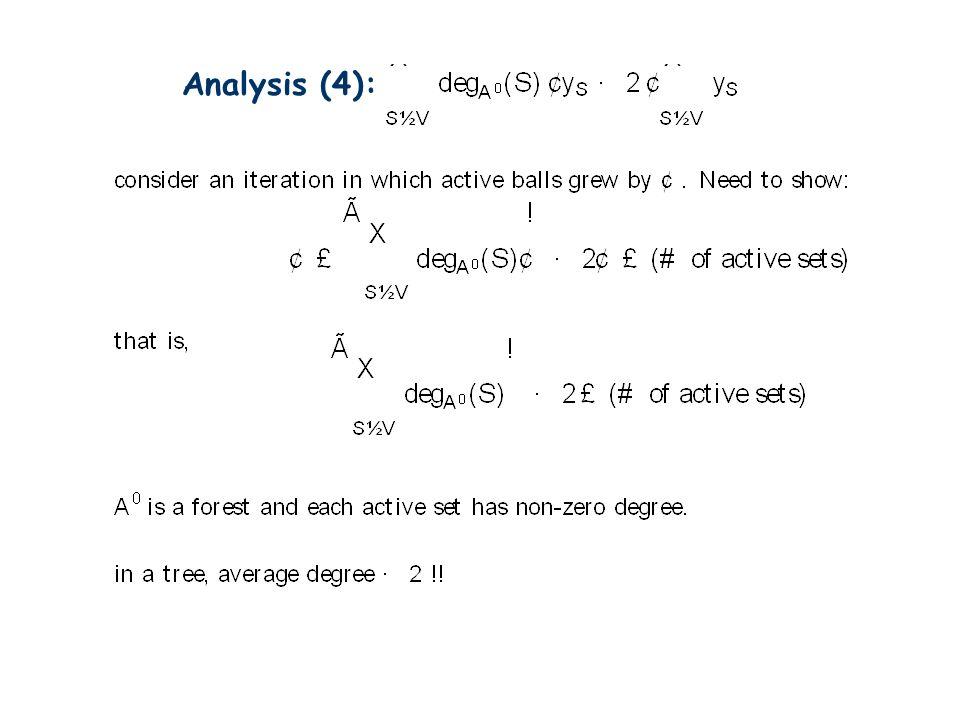 Analysis (4):