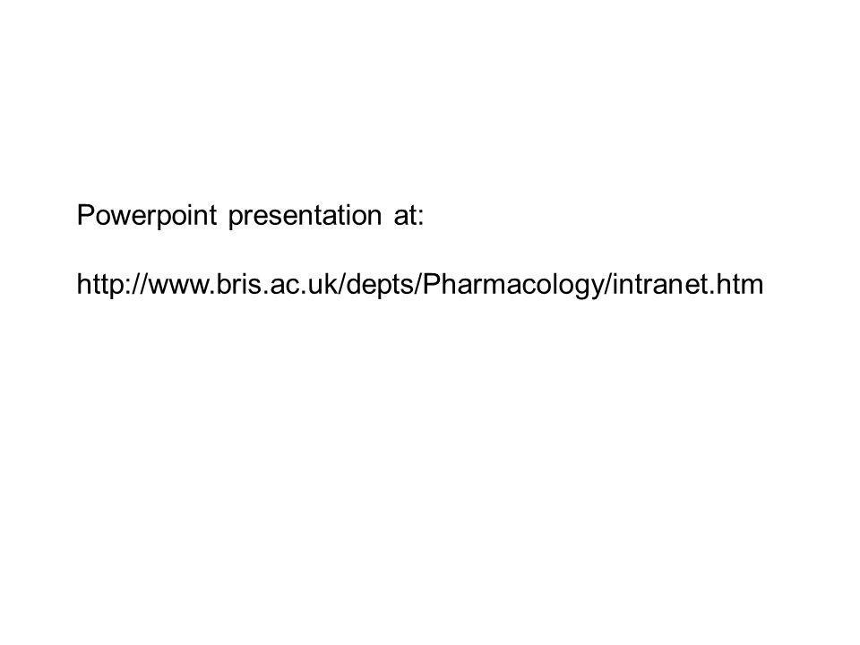 Powerpoint presentation at: http://www.bris.ac.uk/depts/Pharmacology/intranet.htm