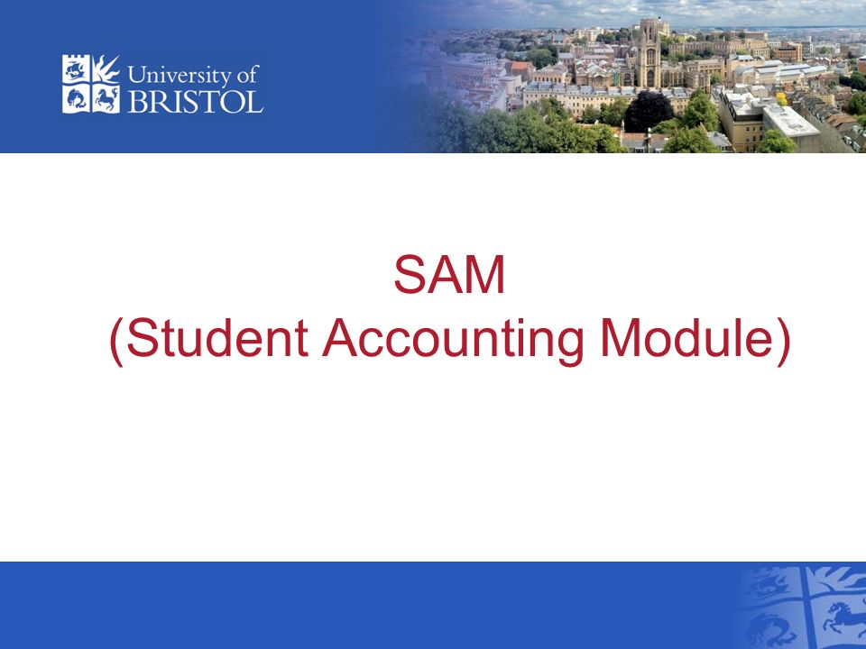 SAM (Student Accounting Module)