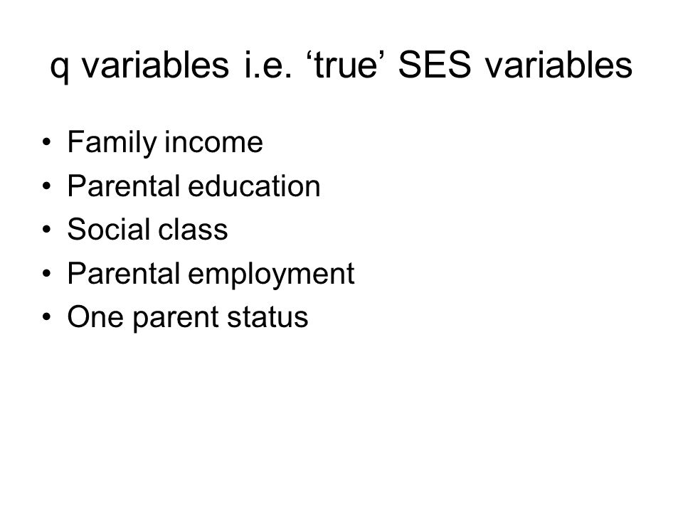q variables i.e.